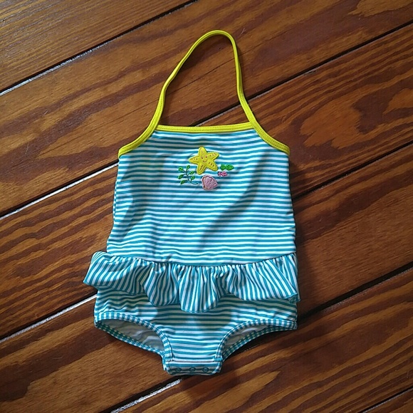 36fd5ce998069 Lands' End Swim | Lands End Infant Baby Girl Suit Ruffle | Poshmark